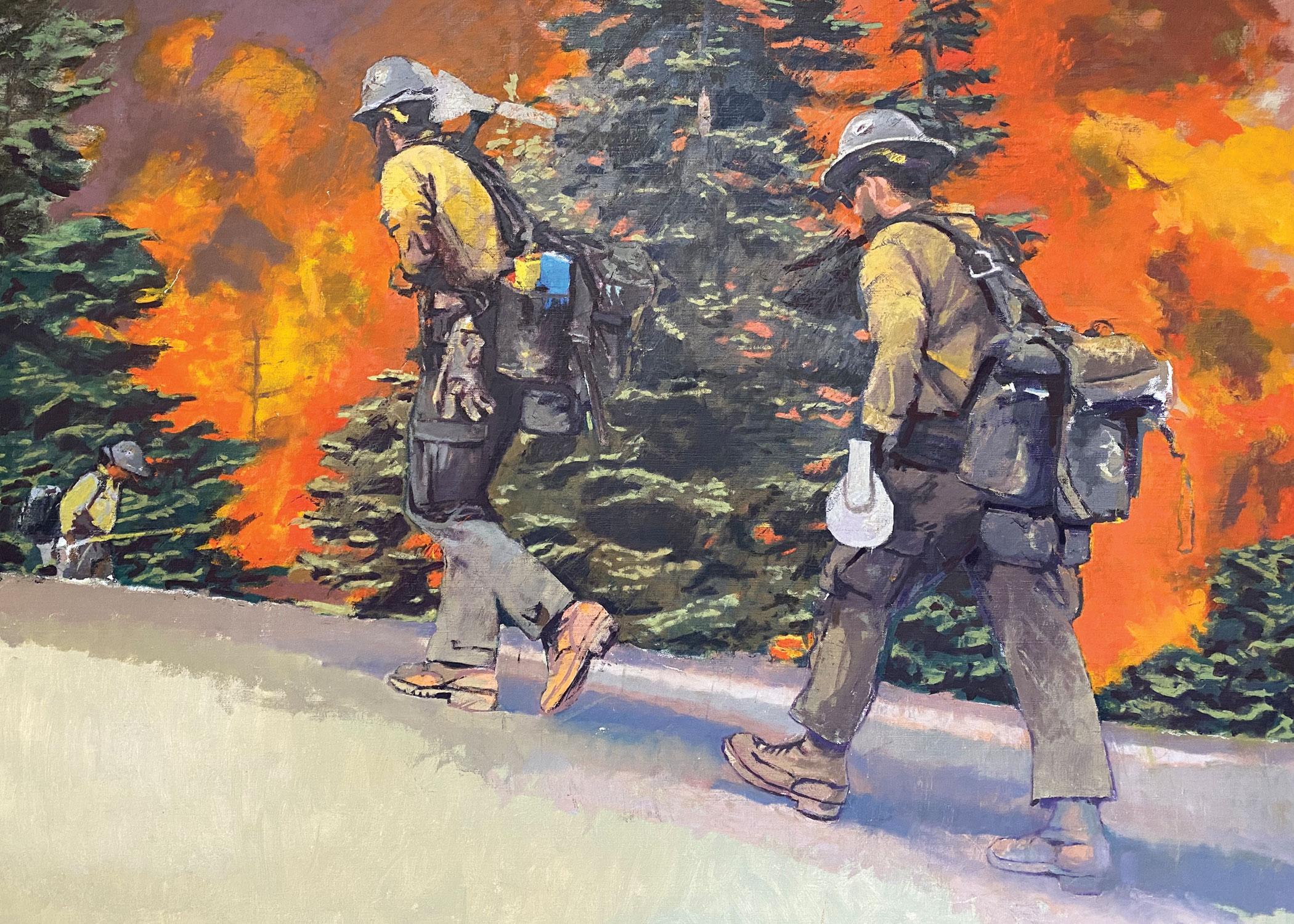 John Deckert first responder painting