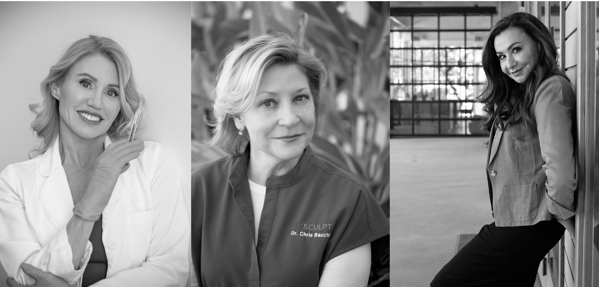 Doctors Karron L. Power, Chris Bacchi, and Faye Jamali