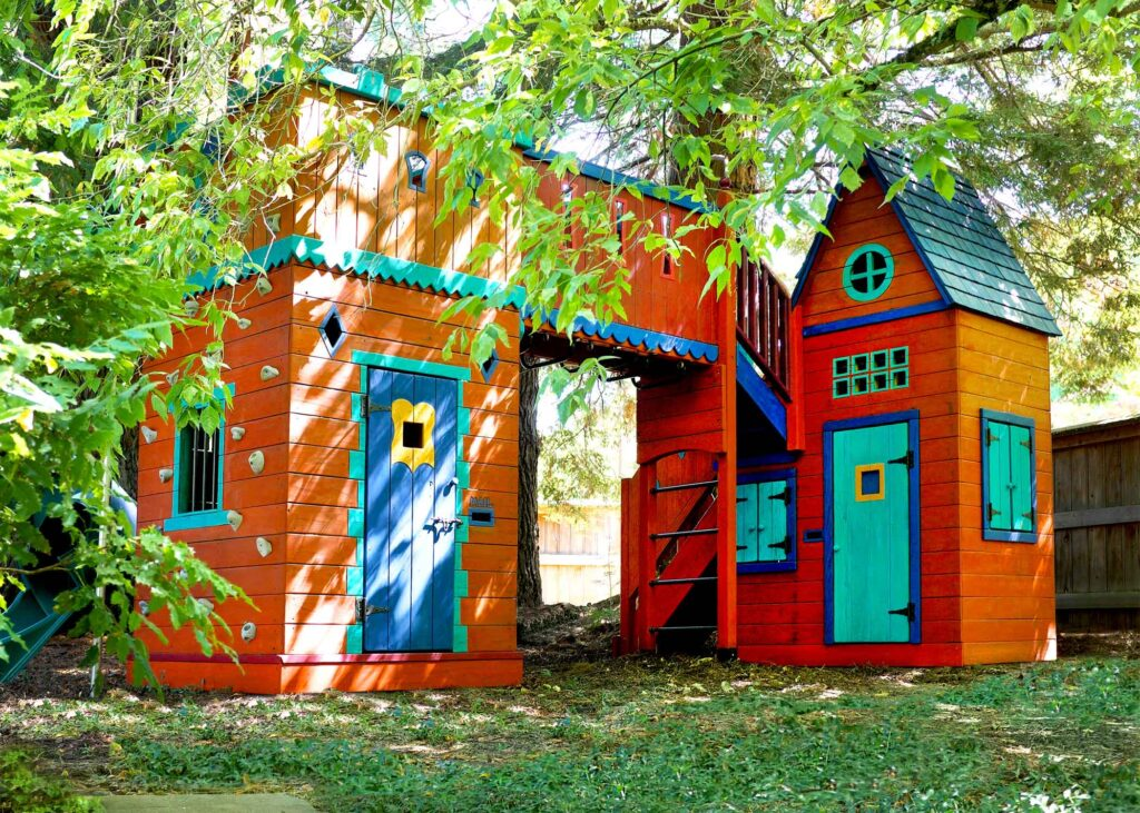 colorful play fort by Barbara Butler Artist-Builder Inc