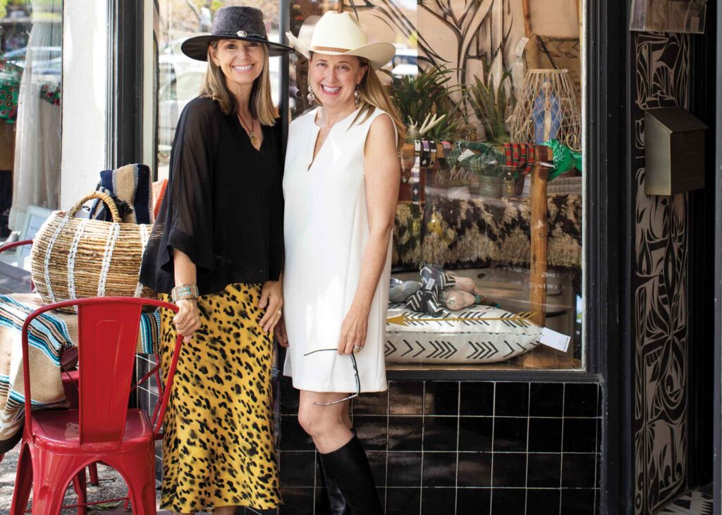 Tracy McCulloch and Karin Young outside of Outpost Home shop