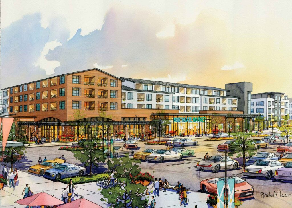 rendering of Northgate Mall renovation