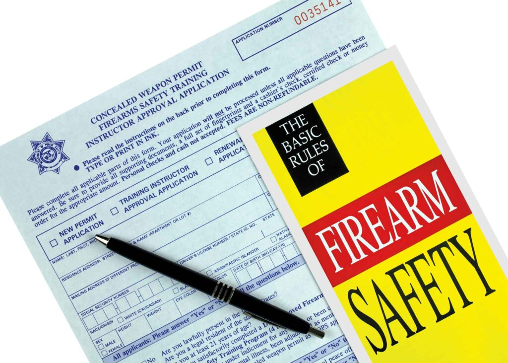 stock image of firearm safety booklet