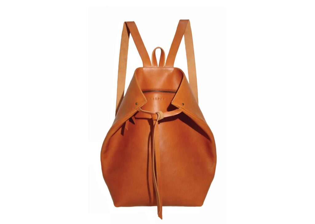 backpack in saddle color