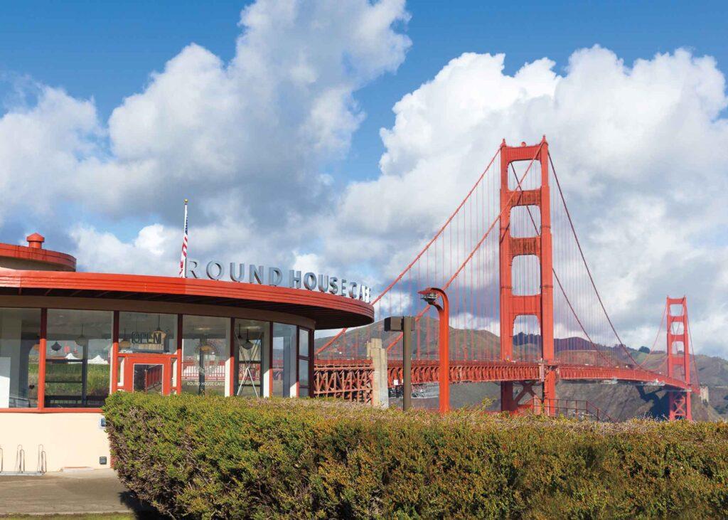 Round House Cafe below Golden Gate Bridge