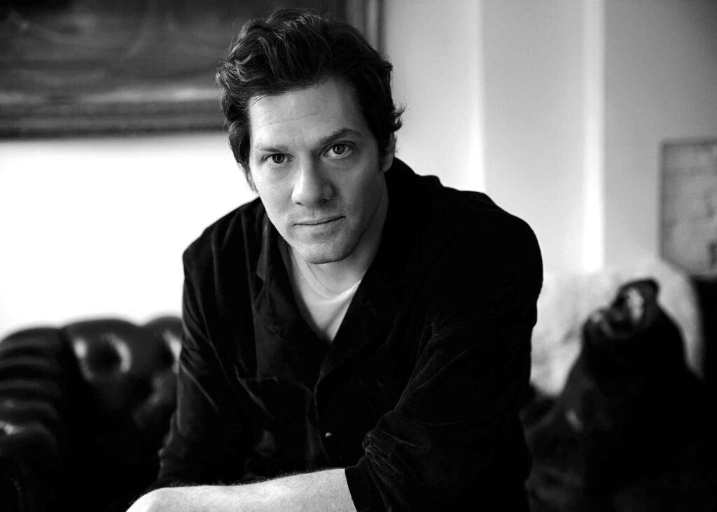 black and white photo of Adam Rapp the playwright