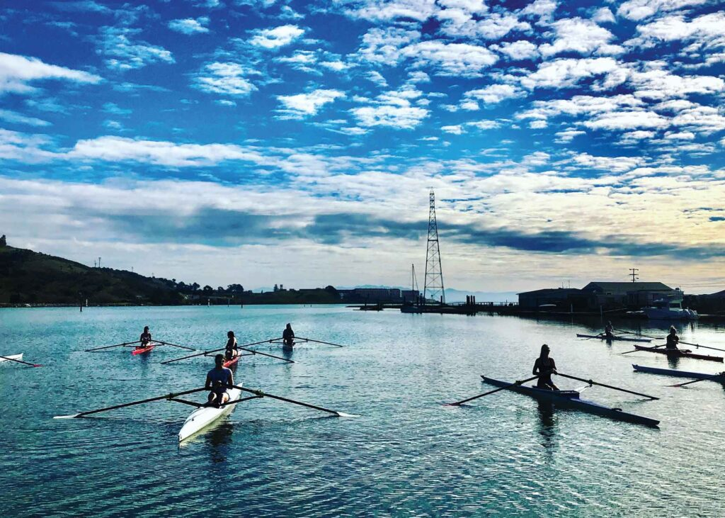 rowers in Marin